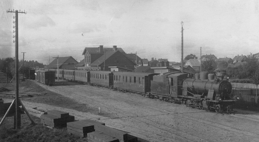history of aluksnes railroad station